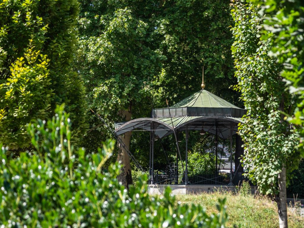 Pavillon im Platzspitzpark